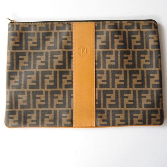 Fendi Handbags - SOLD! FENDI Zucca Clutch